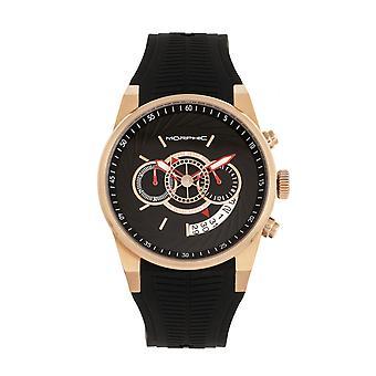 MORPHIC M72 Serie Strap Watch - zwarte/Rose Gold