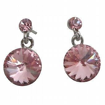 Sleek Dainty Rose Crystal Post Earrings Bridesmaid Gift