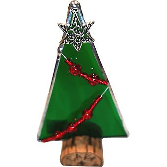 Simmerdim Design Stained Glass Christmas Tree on Cork