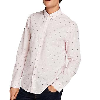 Scotch & Soda Ams Blauw Printed Slim Fit Shirt