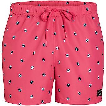 Bjorn Borg Mini Parosols Print Swim Shorts, Beetroot Purple