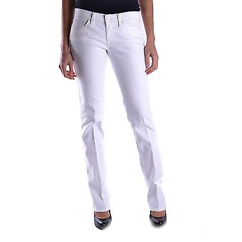 7 For All Mankind Ezbc110023 Women's White Cotton Jeans