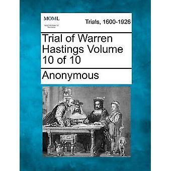 Prøveversion af Warren Hastings bind 10 af 10 af anonym