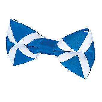 Dobell Mens Schotse vlag strikje vooraf gebonden