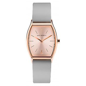 Shows Paul Hewitt PH - T - R - SR - 31 S - watch leather grey woman