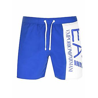 Ea7 Royal Blue Logo Swim Short