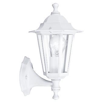 Eglo Laterna 5 witte IP33 exterieur gegoten Aluminium wand licht