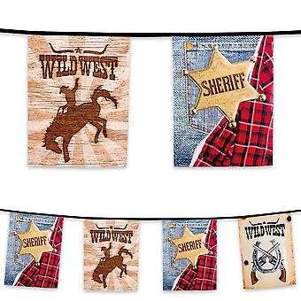 6 Metre Plastic Bunting Wild West Cowboys