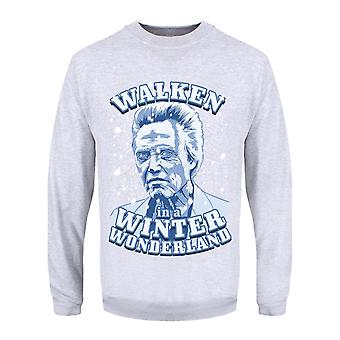 Grindstore Mens Grey Walken In einem Winter Wunderland Jumper