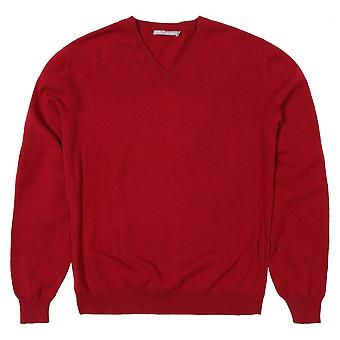 Cashmere V- Neck Sweater, Mulberry