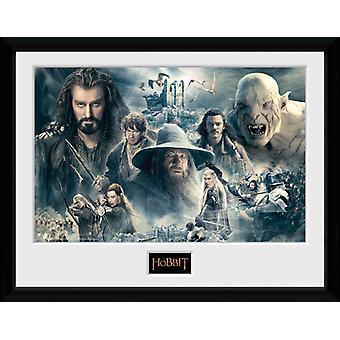 Der kleine Hobbit gerahmt Collector Print 40x30cm