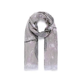 Intrigue Womens/Ladies Large Dragonfly Print Écharpe