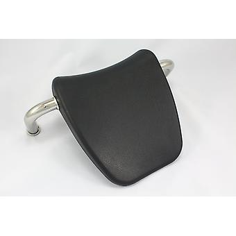 Grey Whirlpool Bath Headrest Pillow with Metal Mounting Bars - 25cm