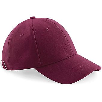 Beechfield-Melton wol 6-panel Baseballpet-hoed