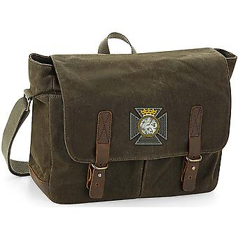 Duke Of Edinburghs Royal Regiment - Licenza British Army Ricamato Waxed Canvas Messenger Bag