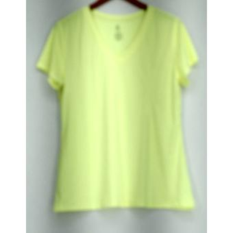 Champions Top XXL V-Neck Short Sleeved Top Bright Yellow New
