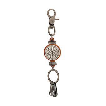 Skipper avaimen perä avaimen perä Carabiner koukku Cognac 8121