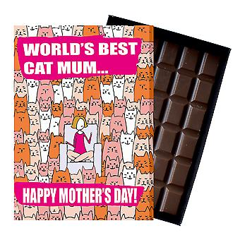 Funny Mother's Day Gift Cat Lover Chocolate Present Greeting Card For Mom Mum Mumy MIYF117