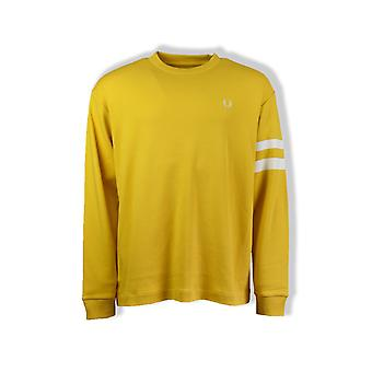 Fred Perry Tipped Long-Sleeved T-Shirt (Sunglow)