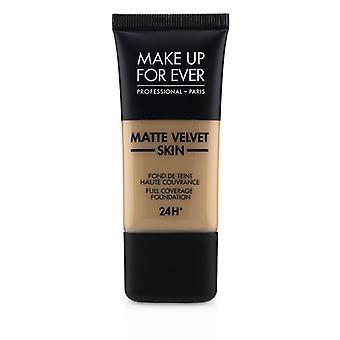 Make-up voor ooit mat fluweel huid volledige dekking Foundation-# R370 (medium beige)-30ml/1oz