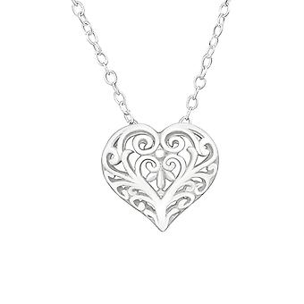 Heart - 925 Sterling Silver Plain Necklaces - W26246X