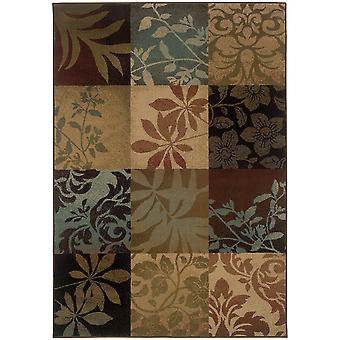 Hudson 058b1 green/red indoor area rug rectangle 7'8