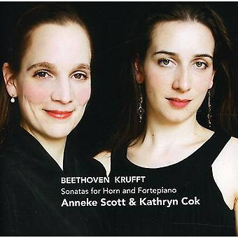Anneke Scott & Kathryn Cok - Beethoven, Krufft: Sonatas for Horn & Fortepiano [CD] USA import