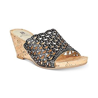 White Mountain Womens AMAL Fabric Open Toe Formal Slide Sandals