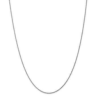 10k λευκό χρυσό ελατήριο δαχτυλίδι. 8mm γυαλισμένο Lite μωρό κολιέ αλυσίδα κορδόνι-μήκος: 14 για να 24