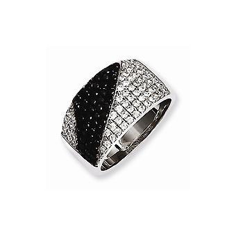 925 Plata de Primera Ley y Zirconia CZ Cubic Zirconia Diamante Simulado Brillantes Brasas Anillo Tamaño 6 Regalos de Joyería para Mujeres