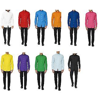 Chemises pour hommes pour hommes dans de nombreuses couleurs Chemise élégante et slimfit avec manches longues pour les hommes