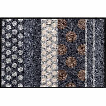 Salon Leeuw voet mat wasbaar glamour Dots Grau 75 x 120 cm, SLD0457-075 x 120