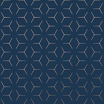 Metro Illusion Geometric Wallpaper
