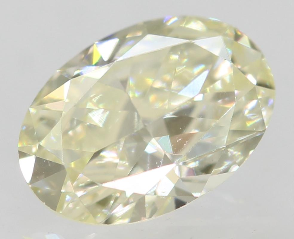 Certified 0.35 Carat I Color VVS1 Oval Natural Loose Diamond 5.81x4.11mm 2EX
