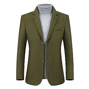 Allthemen Men's Two-Button Thick Blazer Business Casual Suit Jacke