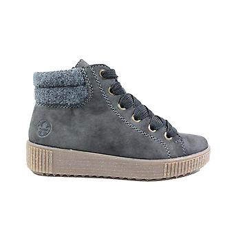 Rieker Gesa Y6424-45 Dark Grey Womens Zip/Lace Up Casual Ankle Boots