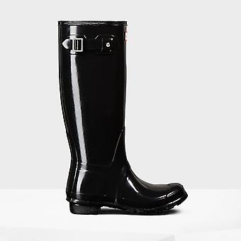 Hunter Original Tall Gloss Ladies Rubber Wellington Boots Black