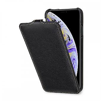 Case For IPhone Xs Max Ultraslim Grained Black In True Leather