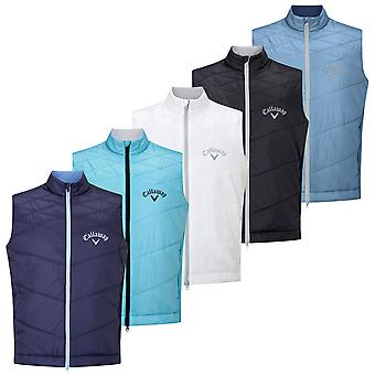 Callaway Golf Mens 2020 Performance Tour Logo Stretch Quilted Puffer Vest