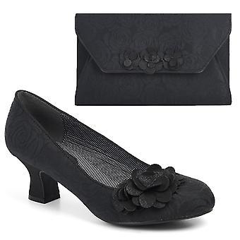Ruby shoo kvinnor ' s Petra Mid Heel domstol sko pumpar & matchande Valencia väska