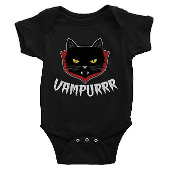 Vampurrr Funny Halloween Cute Graphic Design Baby Bodysuit Gift Black