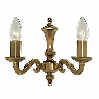 2 bronze antique da luz da parede da vela interna da luz
