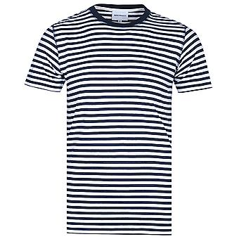 Norse Projects Niels Dark Navy & White Classic Stripe T-Shirt