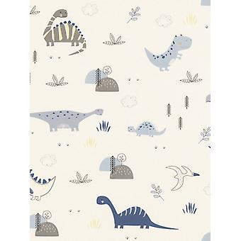 Dinosaurs Wallpaper Natural Rasch 249347