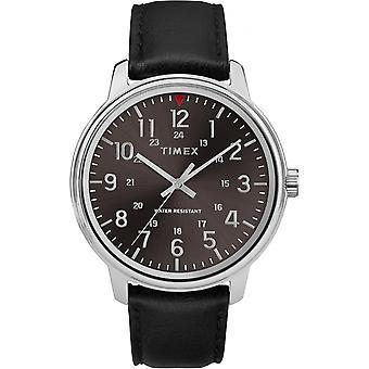 Timex TW2R85500D7 watch - ur klassiske stål armbånd sort urskive sort mand grå sagen