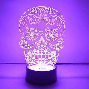 Day of the Dead Cheeky Candy Skull Colour Changing LED Acrylic Light