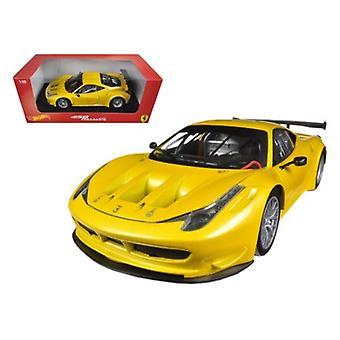 Ferrari 458 Italia GT2 Yellow 1/18 Diecast Car Model par Hotwheels