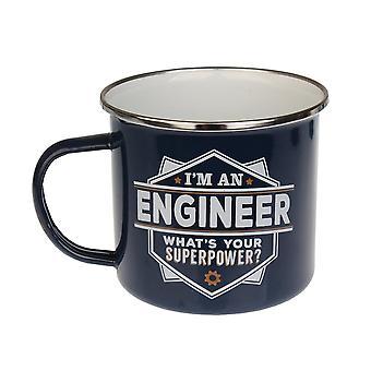 History & Heraldry Engineer Tin Mug 16