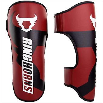 Ringhorns lader Shin Guards rood