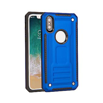 For iPhone XR Case, Armour Strong Shockproof Thin Tough Protective Cover, Blue